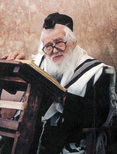 Picture of Rabbi Elazar Menachem Shach.