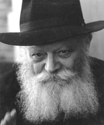 Picture of Rabbi Menachem Mendel Schneerson.