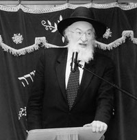 Picture of Rabbi Yisroel Belsky.